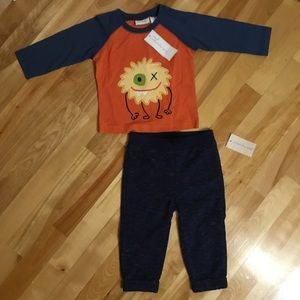 FIRST IMPRESSIONS Baby boy shirt and pants NWT 12m